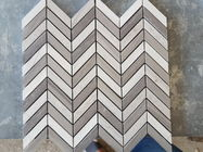 White Arrows Marble Mosaic Tile For Hotel / Restaurant Bathroom Wall