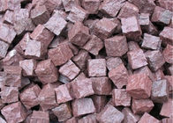 Granite Outdoor Natural Paving Stones For Garden / Patio Red Porphyry