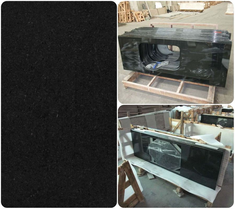 Prefab Solid Granite Worktops High Hardness Good Corrosion Resistance
