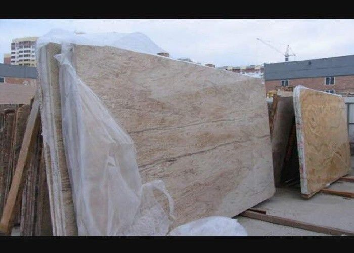 Gold Polished Granite Natural Stone Slabs 126MPa Compressive Strength