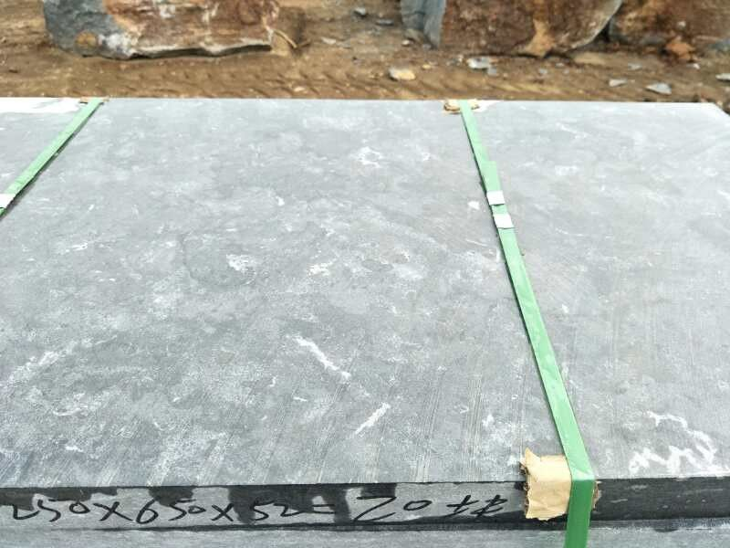 Durable Unpolished Swimming Pool Coping Stones Blue Limestone Tiles And Slab