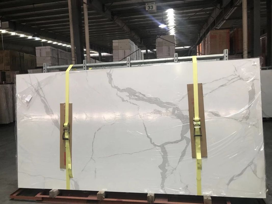 Calacatta Ceramic Ultrathin Porcelain Big Slab 3200 Mmx 1500mm